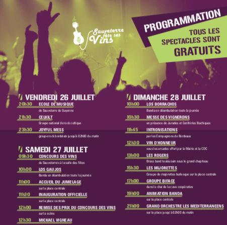 Programmation Sauveterre Fete Ses Vins 2019