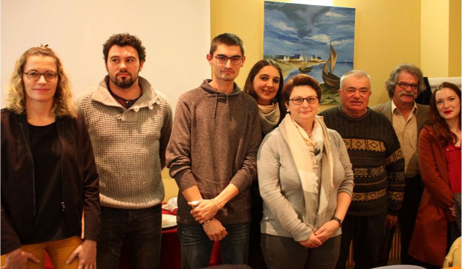 De gauche à droite : Eliane Souan, Xavier Lumeau, Ludovic Corjail, Estelle Corjail, Stéphanie Gabouriaud-Duberga, Jean Paul Souan, Pierre Tomade et Aghate Jouan. Absent Alexix Ladrat et Christophe Gauthier